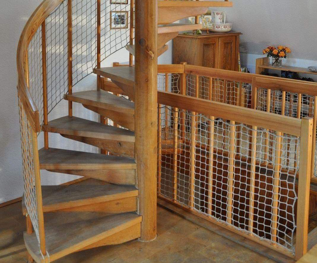 Stair-Rail Safety Nets