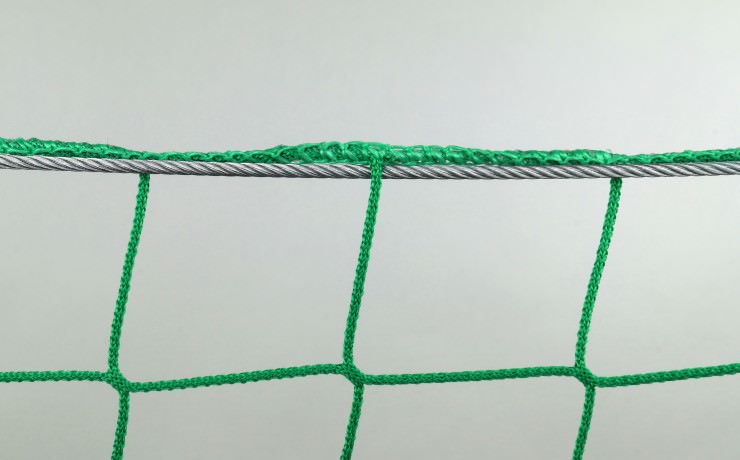 Safety Net Assembly, Mounting With Steel Cables