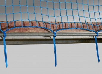 Guardrail Net 1.50 x 5.00 m with Quick-Release Straps
